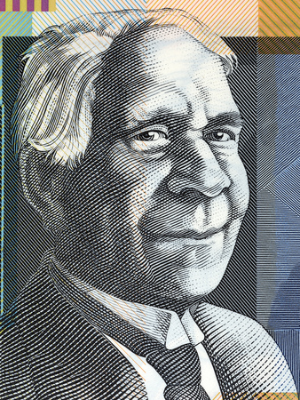 David Unaipon portrait from Australian money Stock Photo