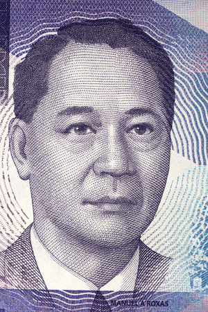 Manuel Roxas portrait from Philippine peso