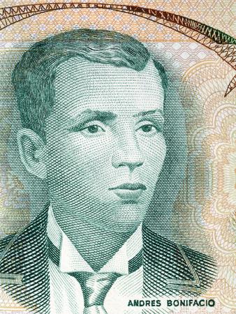Andres Bonifacio portrait from old Philippine money Stock Photo