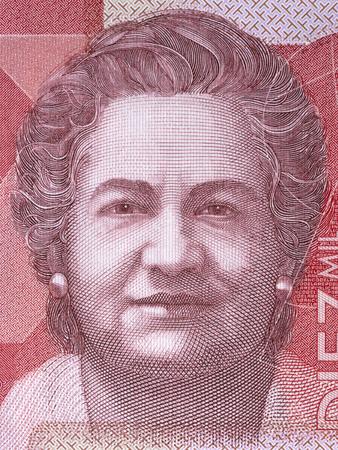 Virginia Gutierrez de Pineda portrait from Colombian money