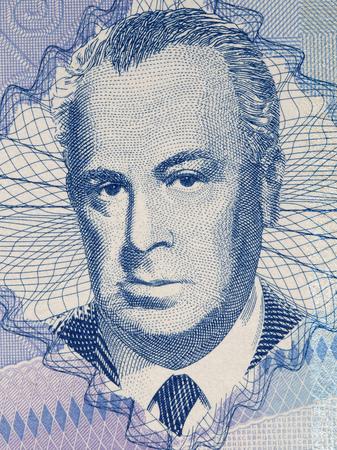 Skender Kulenovic portrait from Bosnia and Herzegovina money Editorial
