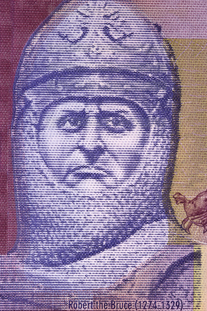 Robert the Bruce portrait from Scottish money Stock Photo