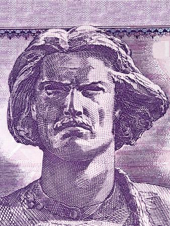 Luftetarit Kombetar portrait from Albanian money