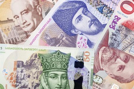 Georgian money, a background Stock Photo
