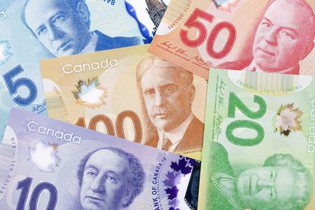 L'argent canadien, un arrière-plan Banque d'images