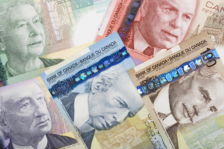 Canadian money background Stock fotó