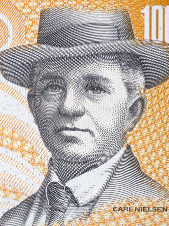 Carl Nielsen portrait from Danish money 写真素材