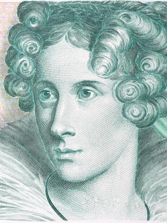 Annette von Droste-Hulshoff portrait from Deutsche Mark Standard-Bild - 104817493