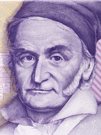 Carl Friedrich Gauss portrait from Deutsche Mark Imagens