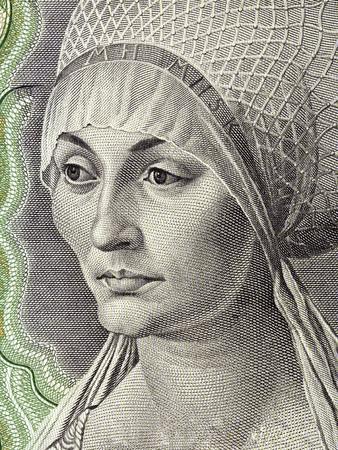 Elisabeth Tucher portrait from Deutsche Mark Standard-Bild - 105110699