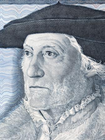 Sebastian Munster portrait from Deutsche Mark 写真素材