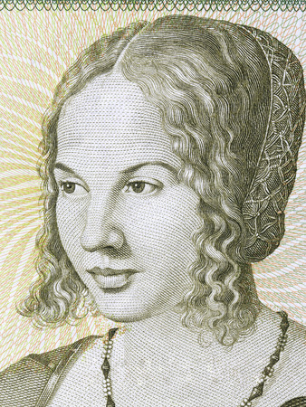 Portrait of a woman from Deutsche Mark Standard-Bild - 105110703
