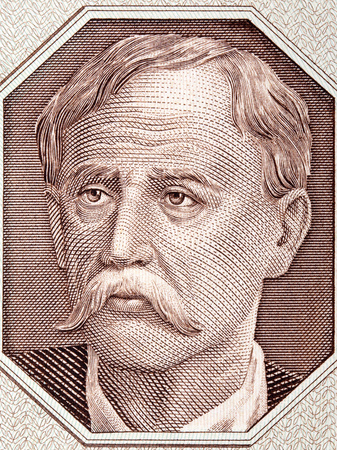 Portrait of a farmer from old Polish money
