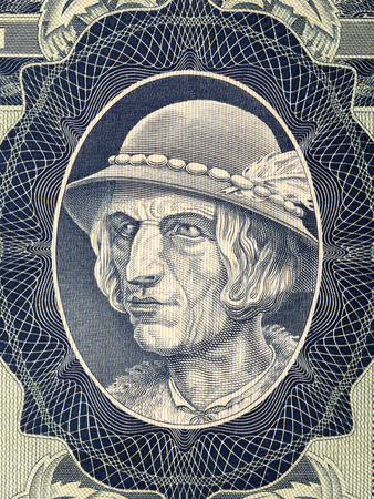 Portrait of a highlander from old Polish money Stock fotó
