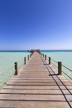 Pier on the Giftun island in Egypt