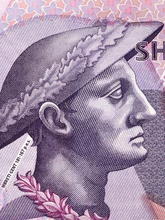 Gentius portrait from Albanian money Stok Fotoğraf
