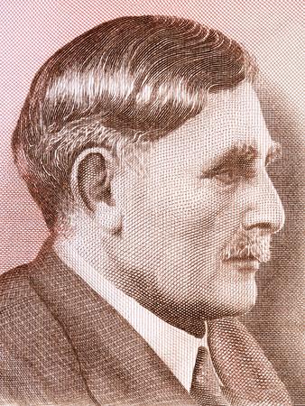 Einar Benediktsson portrait from Icelandic money