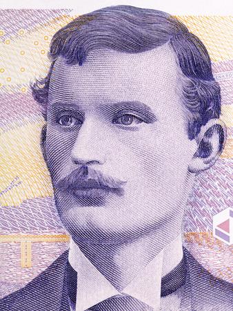 Edvard Munch portrait from Norwegian money