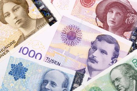 Norwegian money, business background Redakční
