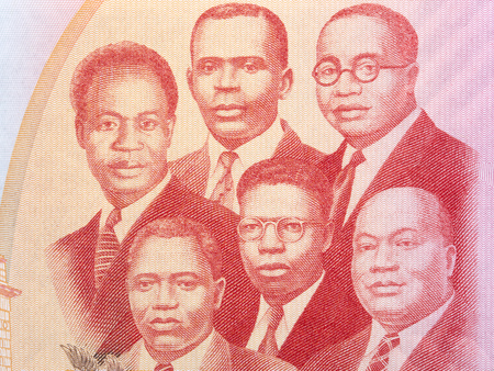 The Big Six portrait from Ghanaian money