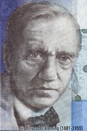 Alexander Fleming portrait from Scottish money