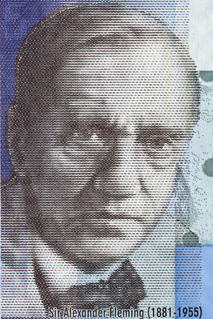Alexander Fleming portrait from Scottish money