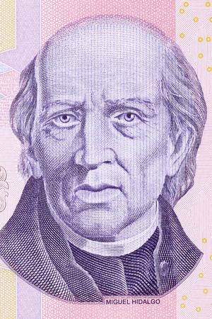 Miguel Hidalgo y Costilla portrait from Mexican money