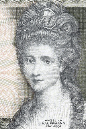 Angelica Kauffman portrait from old Austrian money