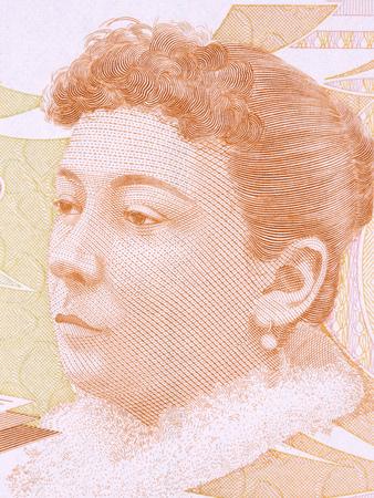 Fatma Aliye Topuz portrait from Turkish money Stok Fotoğraf