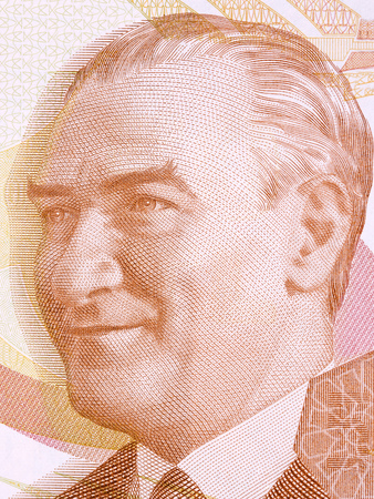 Mustafa Kemal Ataturk portrait from Turkish money