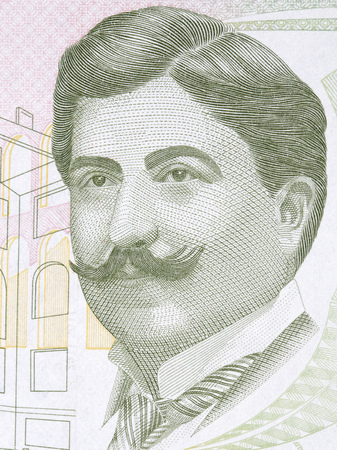Mimar Kemaleddin portrait from Turkish money Stok Fotoğraf