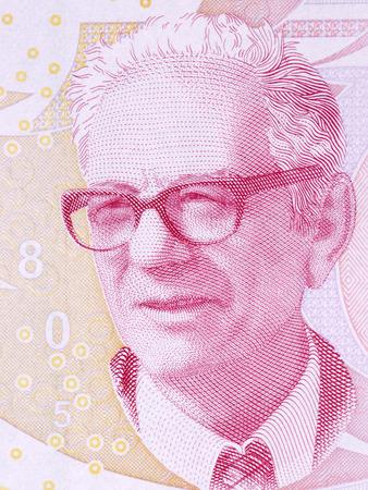Cahit Arf portrait from Turkish money