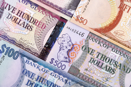 Guyanese dollars, a background Stock Photo