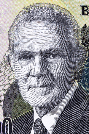 Michael Norman Manley portrait from Jamaican money Éditoriale