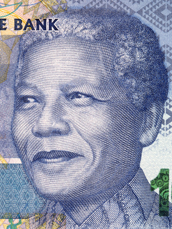Nelson Mandela portrait from South African money