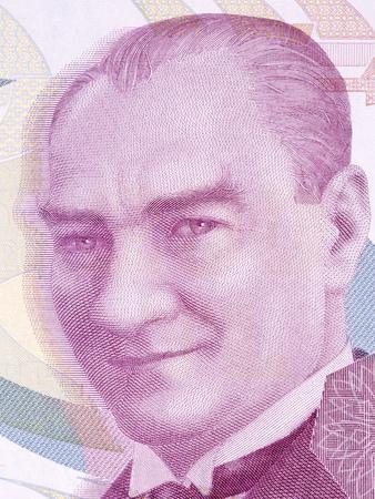 Mustafa Kemal Ataturk portrait from Turkish money