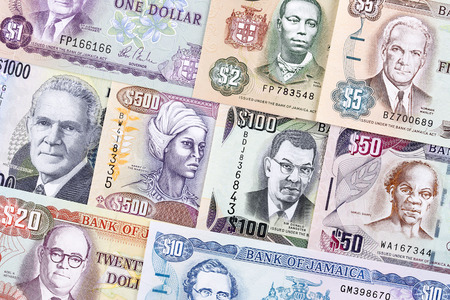 Jamaican money, a business background Stock Photo