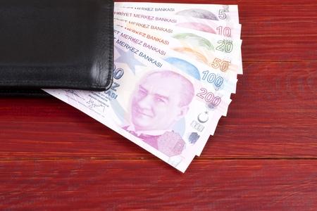 Turkish money in the black wallet