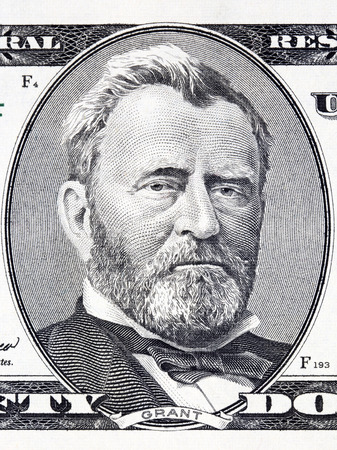 Ulysses Grant portrait from American money