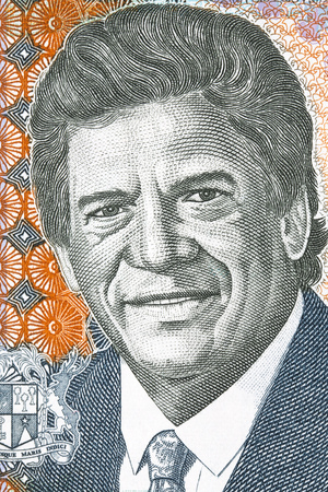 Charles Gaetan Duval portrait from Mauritian money Stock Photo