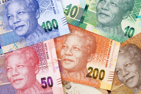 South African money a business background Reklamní fotografie