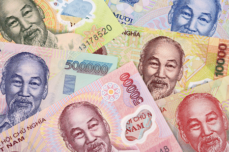 Vietnamese money a business background 免版税图像