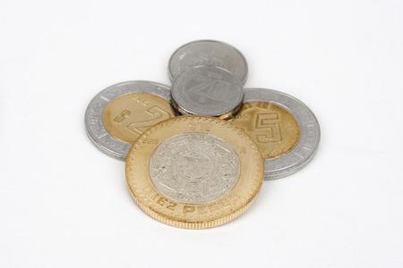 Mexican coins - Pesos Stock Photo