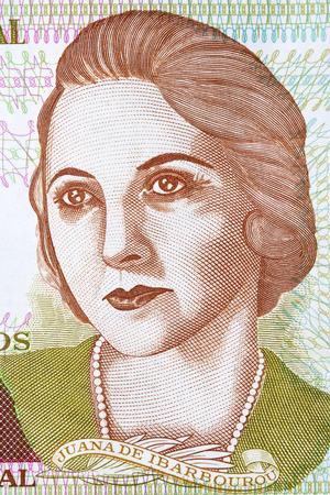 Juana de Ibarbourou portrait from Uruguayan money