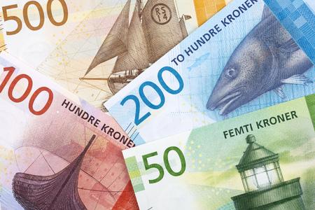 Norwegisches Geld, ein geschäftlicher Hintergrund