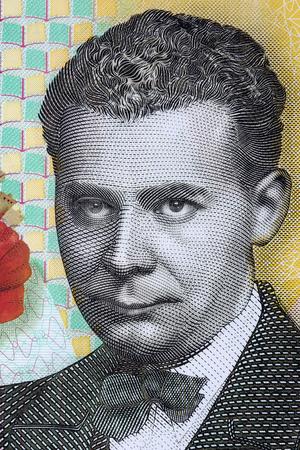 Lucian Blaga portrait from Romanian money