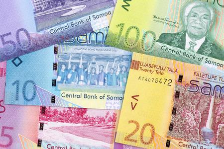 Samoan money a business background Stock Photo