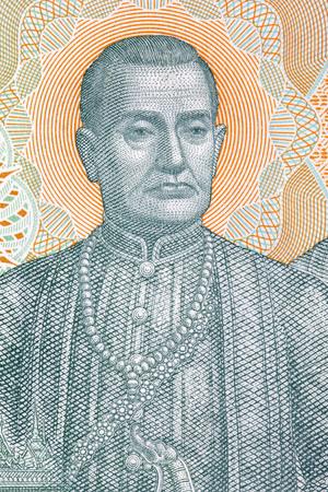 Phra Buddha Yodfa Chulaloke Rama I portrait from Thai money Stock Photo
