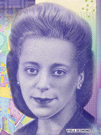 Viola Desmond portrait from Canadian money