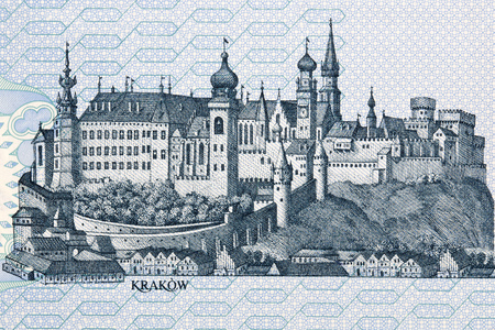Image of Wawel Castle in Cracow from Polish money